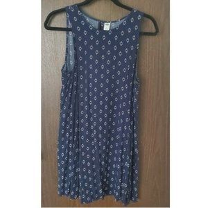 Old Navy Sleeveless Blue & White Swing Dress Sz. L